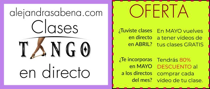 Oferta Clases Tango Mayo