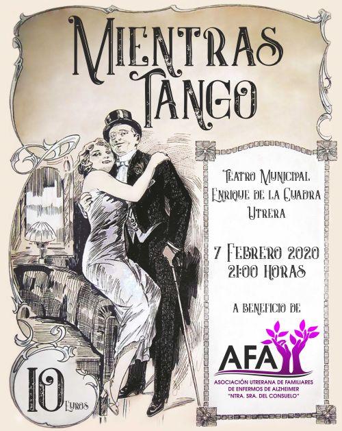 Cartel espectáculo Mientras Tango