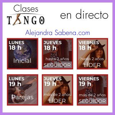Horario Clases Tango Directo Junio