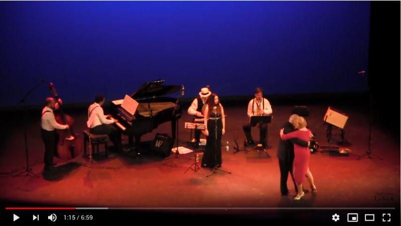Improvisación de alumnos de tango